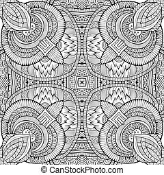Abstract ethnic sketchy background - Abstract decorative...