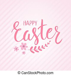 Easter holiday background - Happy Easter holiday striped...