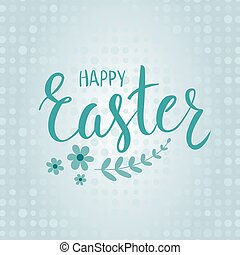 Easter holiday background - Happy Easter holiday dotted,...