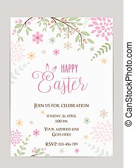 Easter holiday background - Happy Easter holiday background....