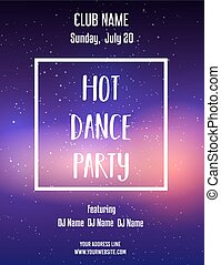 Poster template for dance party