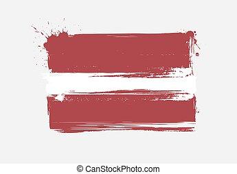 Latvia grunge flag - Latvia national grunge flag for your...