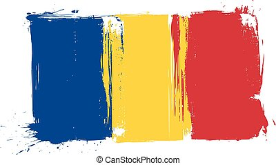 Grunge Romania flag - Grunge Romania national flag for your...