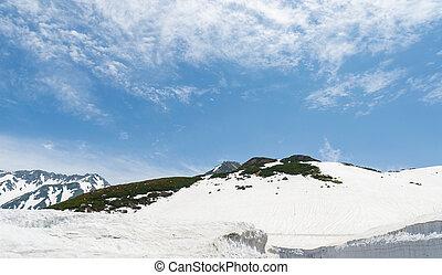 Snow mountain at japan alps tateyama kurobe alpine route