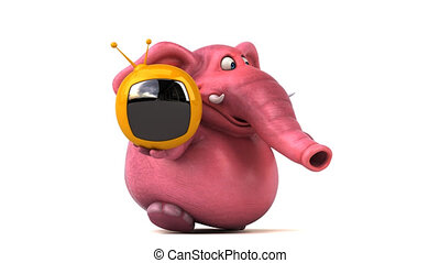 Pink elephant - 3D Animation