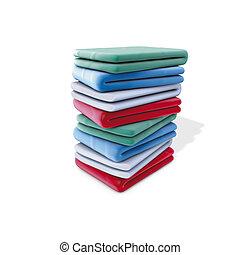 Clothes pile - 3d rendering illustration, clothes pile