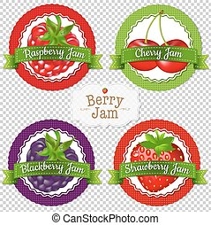Berry Labels Set