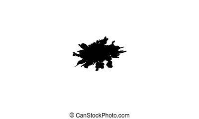 Ink drops on wet paper 27 - Black inks drop on wet paper....