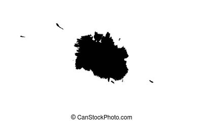 Ink drops on wet paper 12 - Black inks drop on wet paper....