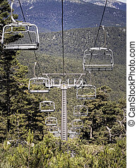 Chairlift in the mountain