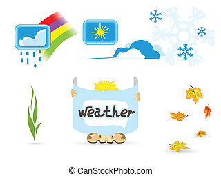 Illustration of weather icons