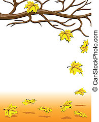 Autumnal falling of the leaves