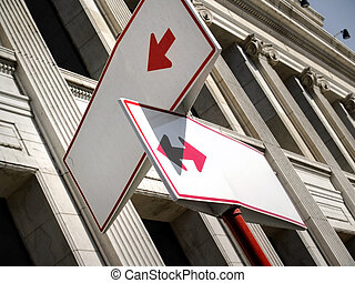Traffic signs in blank to write into