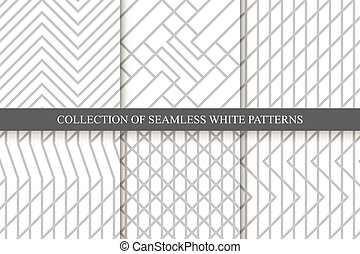 Vector striped seamless geometric patterns.