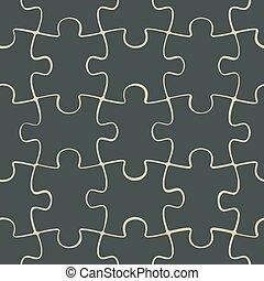 Puzzle jigsaw seamless pattern