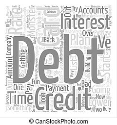 Bury The Debt Monster Part Two Word Cloud Concept Text Background