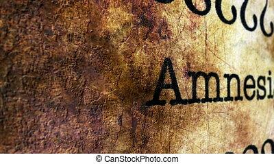 Amnesia disease grunge concept