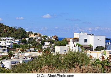 Town with white houses