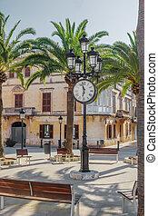 Plaza de Alfonso III square at Ciutadella old town at...
