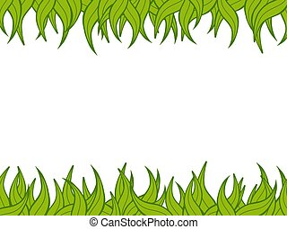green-border - Illustration of a green plant border