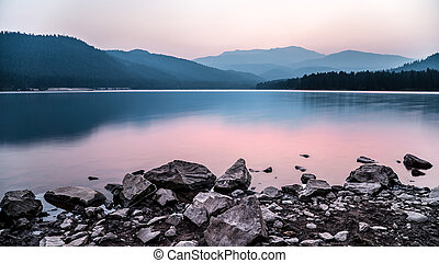 Calm lake - A cold calm lake