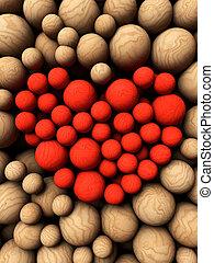 3d sphere wood background 3d illustration