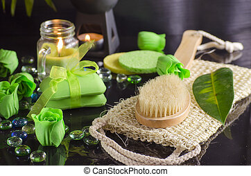 Soap and spa supplies - Soap and a variety of accessories...