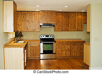 Interior of Kitchen - The interior of a new, small, kitchen...