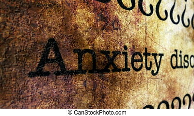 Anxiety disorder grunge concept
