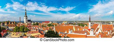 Aerial View of Tallinn