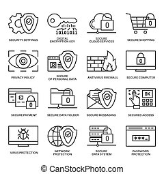 Internet security information protection icons