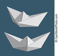 Paper ships set