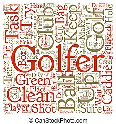 Caddie Tips For The Beginner text background wordcloud...