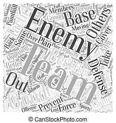 BWPW defensive tactics paintball Word Cloud Concept
