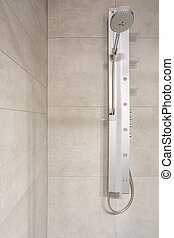 Shower head in the bathroom - Steely shower head in the...