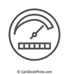 Productivity Thin Line Vector Icon. Flat icon isolated on...