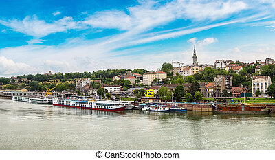 Belgrade cityscape in Serbia - Belgrade cityscape from the...