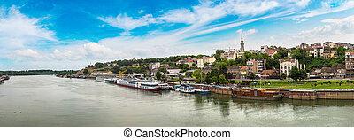 Belgrade cityscape in Serbia - Belgrade cityscape from the...