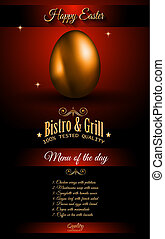 Restaurant Menu template for 2017 Easter celebration with a...