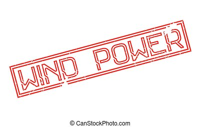 Wind Power rubber stamp. Grunge design with dust scratches....