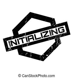 Initializing rubber stamp. Grunge design with dust...