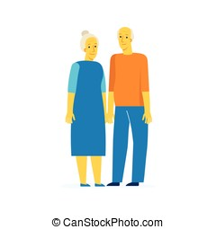Happy retirement - Vector characters illustration in flat...