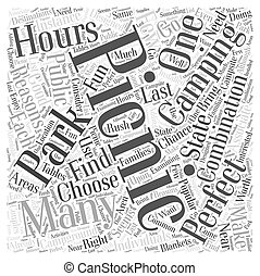 Camping and Picnics The Perfect Combination Word Cloud Concept