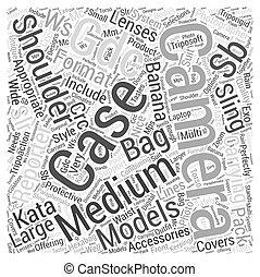 camera bag kata Word Cloud Concept