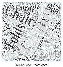 camping chair Word Cloud Concept