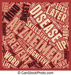 Can Alzheimer s Be Prevented text background wordcloud...