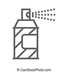 Spray paint line icon - Spray Paint Thin Line Vector Icon...