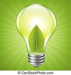Eco Bulb With Ladybug