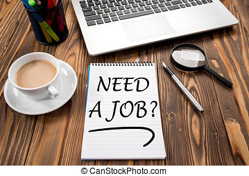 Searching For A Job Concept