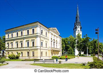 Spisska Nova Ves, Slovakia - Town Hall Square, Spisska Nova...
